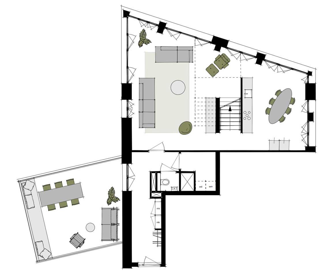 Dockside-appartementen-alkmaar-indeling-plattegrond-AA-153-m2-2