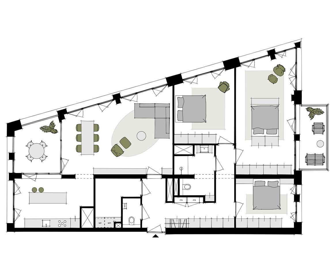 Dockside-appartementen-alkmaar-indeling-plattegrond-Y2-150-m2